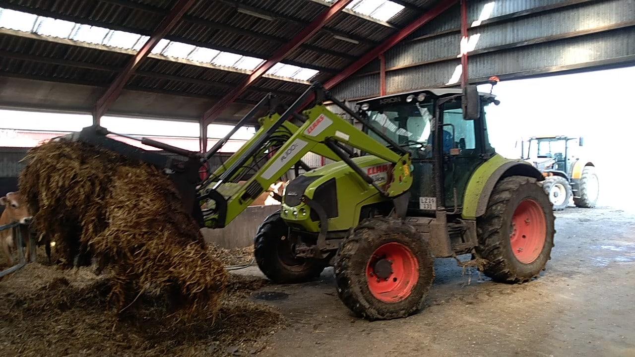 Traktor dybstrøelse